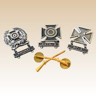 (4) Vintage Military Weapons Marksmanship Award Medals