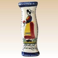French Porcelain Knife Rest Signed Henriot Quimper