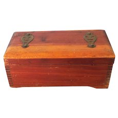 1939 Cedar Vanity or Dresser Box