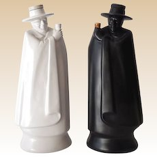 Pair Vintage Wedgwood Figural Liquor Decanters Made in England