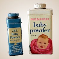 (2) Vintage Advertising Tins Baby Powder Great Graphics