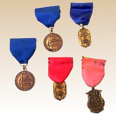 (5) Vintage Michigan School Band & Orchestra Medals