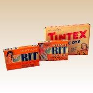 (3) Vintage Fabric Dye Boxes Nice Graphics