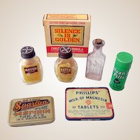 Lot of 7 Vintage Pharmacy Medicine Items