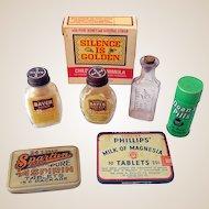 Lot of 7 Vintage Pharmacy Medicine Items
