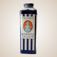 1930s-40s Mennen Baby Powder Talcum Tin Excellent Graphics