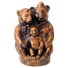 "Vintage Metal Still Coin Bank ""The Three Bears"""