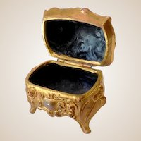 Lovely Casket Style Victorian Ring Box Dresser Box