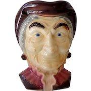 Large Royal Copley Wall Pocket Head Vase