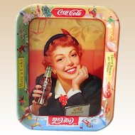 Original 1950S Coca Cola Tin Advertising Tray