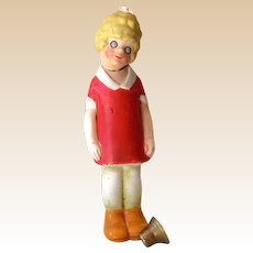 1920s Bisque Little Orphan Annie Bisque Nodder Head Bobber Germany