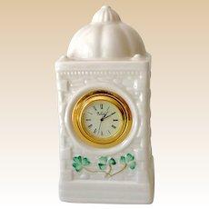 Belleek Mantle or Dresser Top Clock