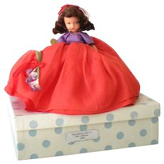 """Bisque Nancy Ann Storybook Doll """"September's Girl Is Like a Storm"""" w/ Box"""