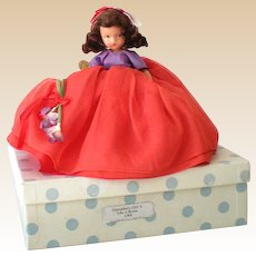 "Bisque Nancy Ann Storybook Doll ""September's Girl Is Like a Storm"" w/ Box"