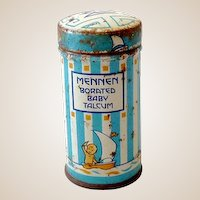 Sample Size Tin Mennen Baby Talcum Powder Great Graphics