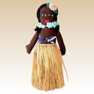 Hand Made Hawaiian Hula Girl Cloth Doll