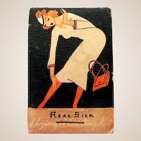 1940s Silk Stockings Repair Kit Art Deco Lady Graphics