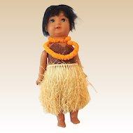 Antique S&H Hanna Hawaiian Composition Doll Germany