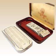 Upscale Vintage Rolls Razor In Alligator Covered Travel Case England