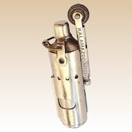 Vintage 1930s Side Sleeve Tubular Chrome Cigarette Lighter Bowers Mfg Co
