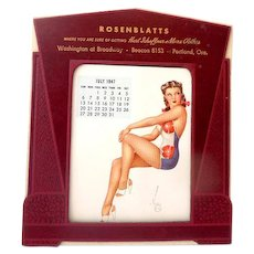 1947 Vargas Pin Up Girl Advertising Desk Calendar Salesmans Sample