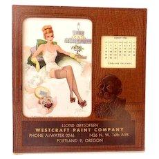 1948 Esquire Pin Up Girl Advertising Desk Calendar Salesmans Sample