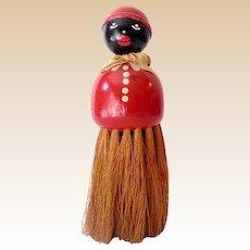 Large Black Americana Mammy Clothes Brush Whisk Broom
