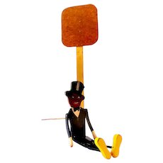 Large Black Americana Dancing Wood Toy