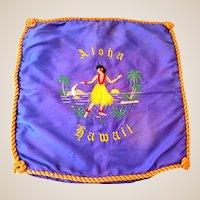 Hawaiian Hula Girl Aloha Embroidered Pillow Slip