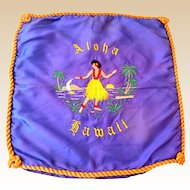 Hawaiian Hula Girl Aloha Embroidered Pillow Slip