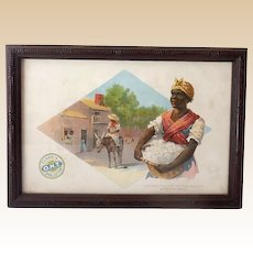 1890's Advertising Trade Card Black Americana Clark's Thread Cotton Picker