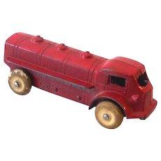 Small 1930s TootsieToy Gasoline Oil Tanker Truck