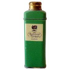 1930s Sample Tin Cashmere Bouquet Talcum Powder