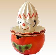 Vintage Ceramic Clown Citrus Juice Reamer Japan
