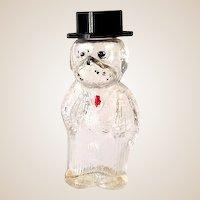 Vintage Figural Glass Perfume Bottle Well Dressed Dog
