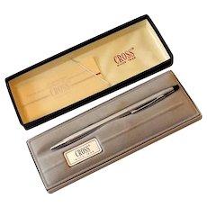 Vintage 1970s Cross Pen Lustrous Chrome in Original Box *MINT*