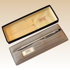 Vintage 1970s Cross Pen Lustrous Chrome in Original Box *MINT*