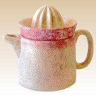 Pink Pottery Citrus Orange Juice Reamer