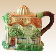 1940s Figural Cottage Ceramic Citrus Juice Reamer