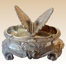 Silver Plated Two Sided Lidded Victorian Style Vanity Dresser Box