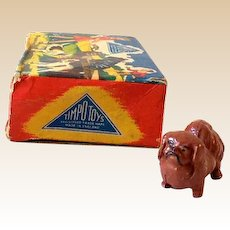 "1950s Timpo ""My Pet"" Lead Pekinese Dog In Original Box #5017"