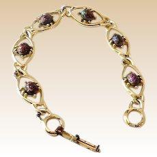 Vintage Silver Tone Bracelet Link