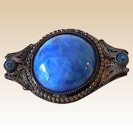 Lovely Victorian Brooch Blue Stones