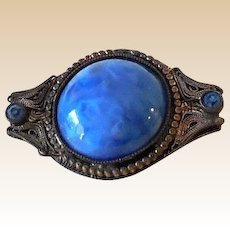 Lovely Victorian Brooch Blue Stones