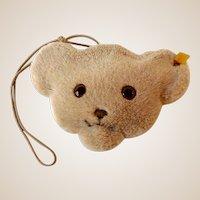 Steiff Bear Head Girls Purse With Ear Button and Tag