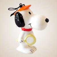 Vintage Peanuts Gang Snoopy Ceramic Ornament Sports Series
