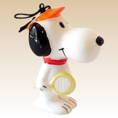 Vintage Peanuts Gang Snoopy Ceramic Ornament Sports Series