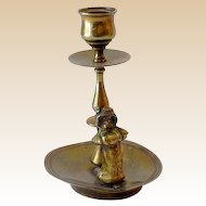 Vintage Solid Brass Candle Holder Kate Greenway Character