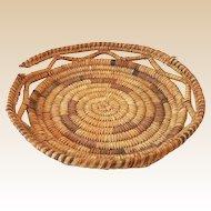 Vintage Hand Made American Indian Wedding Basket Tray
