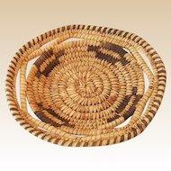 Small Vintage Hand Woven Papago Native American Basket Tray